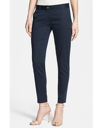 MICHAEL Michael Kors Michl Michl Kors Sexy Skinny Cotton Blend Sateen Pants Navy 4p