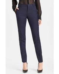 Saint Laurent Skinny Virgin Wool Tuxedo Pants