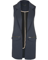 Topshop Tall Raw Edge Sleeveless Jacket