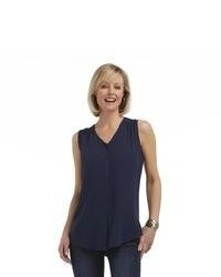 V neck crepe top medium 64354