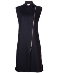 Navy Sleeveless Coat