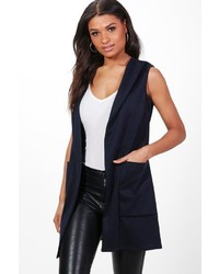 Boohoo Jennifer Shawl Collar Sleeveless Blazer