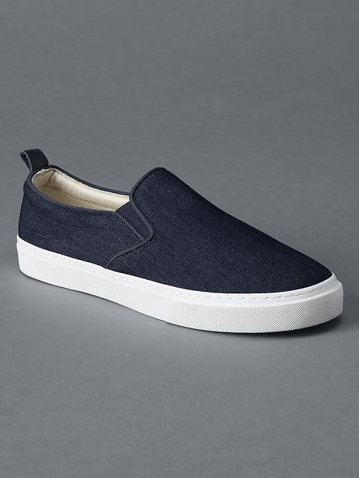 Gap 1969 Denim Slip On Sneakers, $49