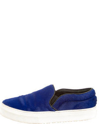 Celine Cline Ponyhair Slip On Sneakers