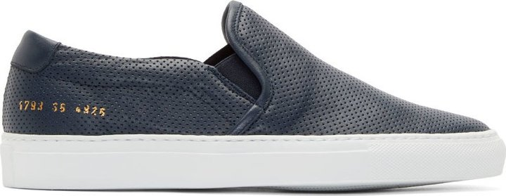 Common Projects Navy Perforated Leather
