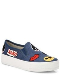Alice + Olivia Pia Emoji Slip On Sneakers