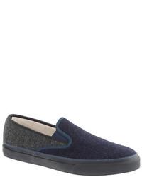 Sperry Top Sider For Jcrew Wool Slip On Sneakers