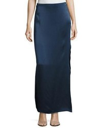 Heritage satin maxi skirt w side slit medium 5277286