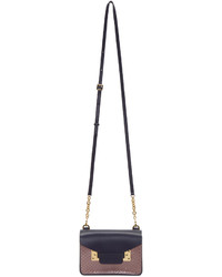 Sophie Hulme Navy And Pink Python Nano Milner Crossbody Bag