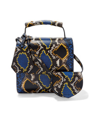MARQUES ALMEIDA Snake Effect Leather Shoulder Bag