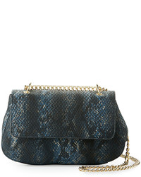 Neiman Marcus Snake Embossed Faux Leather Crossbody Bag