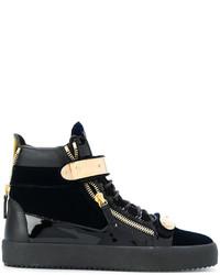 Giuseppe Zanotti Design Coby Velvet Hi Top Sneakers
