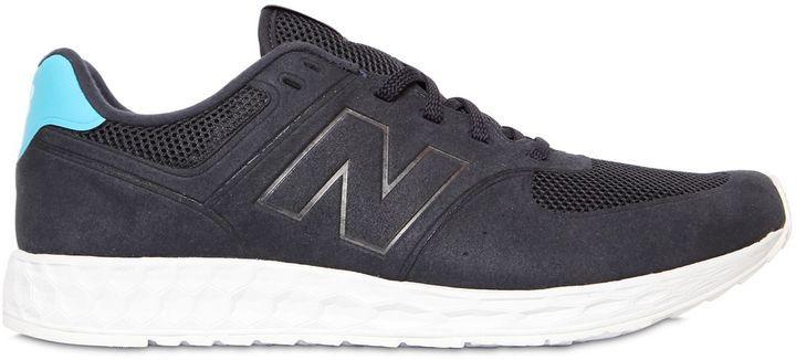 big sale 413fa 45918 $108, New Balance 574 Fresh Foam Faux Nubuck Sneakers
