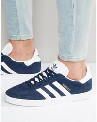 adidas Originals Gazelle Sneakers In Navy Bb5478