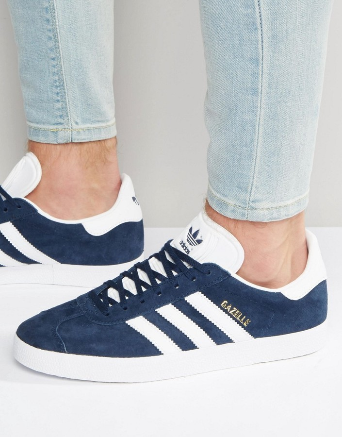 uk availability 17642 c1bc9 ... adidas Originals Gazelle Sneakers In Navy Bb5478 ...