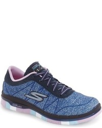 Skechers Toddler Girls Goflex Walk Sneaker