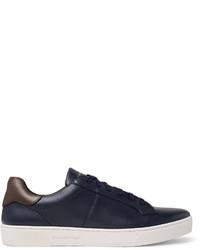 Vittorio Vulcanised-leather Sneakers - NavyErmenegildo Zegna DaWjZ