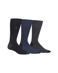 Polo Ralph Lauren 3 Pack Ribbed Socks
