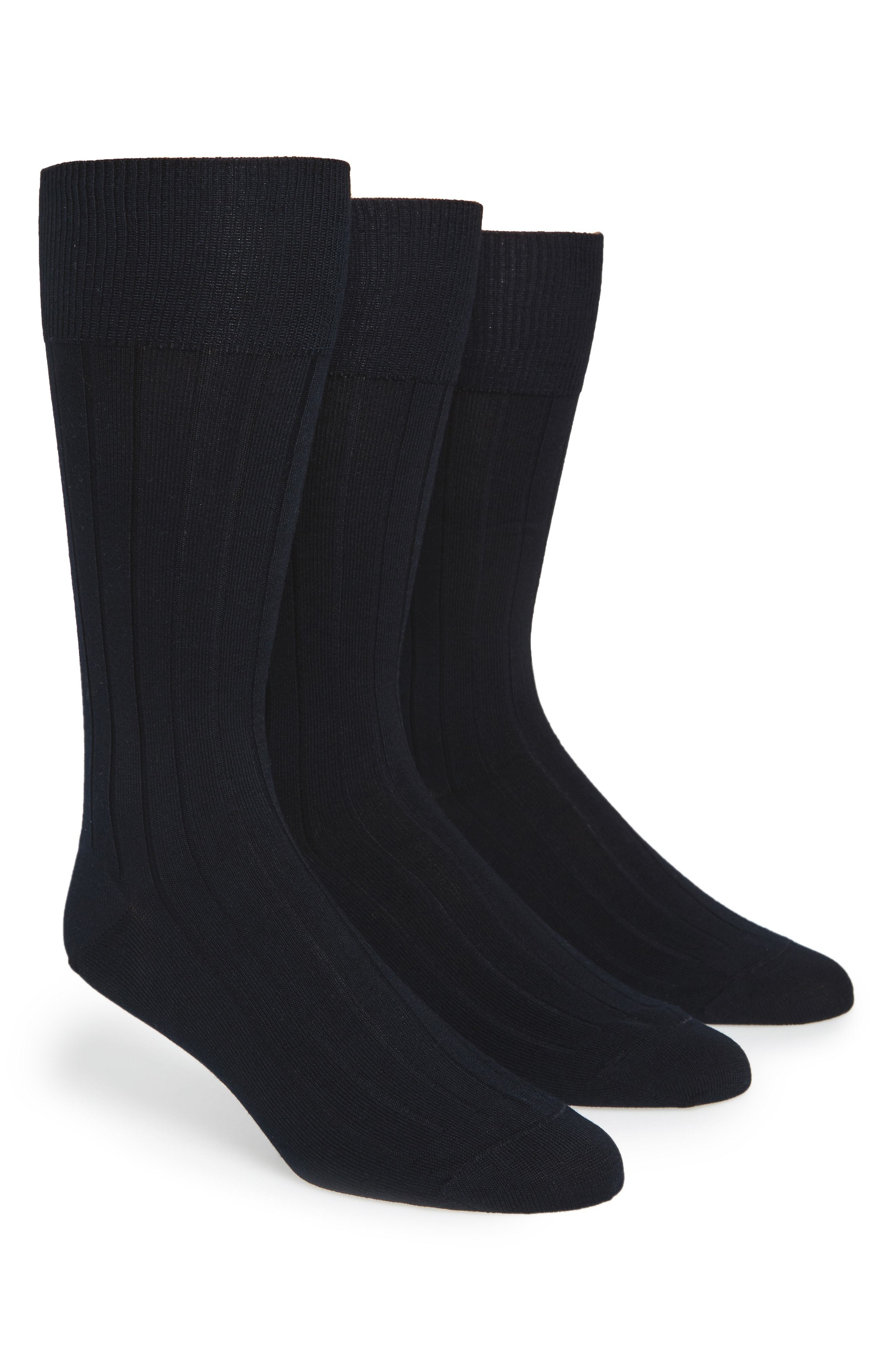 Calvin Klein 3 Pack Wide Rib Socks