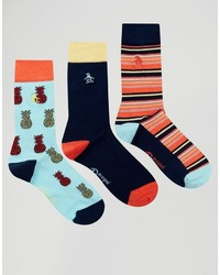 Original Penguin 3 Pack With Pinapple Prink Socks