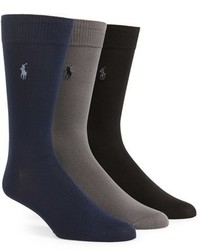 Polo Ralph Lauren Assorted 3 Pack Supersoft Socks
