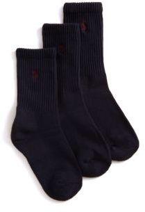 Ralph Lauren Boys Three Pair Casual Sport Crew Socks