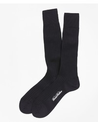 Brooks Brothers Egyptian Cotton Ribbed Crew Socks