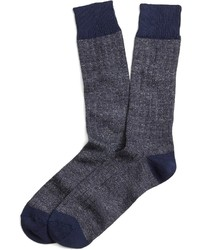 Brooks Brothers Marled Ribbed Crew Socks