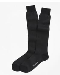 Brooks Brothers Cotton Birds Eye Over The Calf Socks