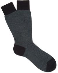 Pantherella Finsbury Herringbone Merino Wool Blend Socks