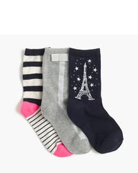 J.Crew Girls Spring Trouser Socks Three Pack