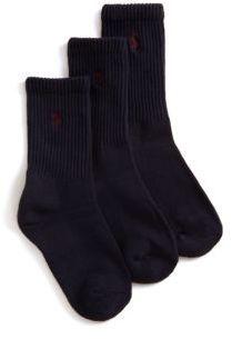 Ralph Lauren Little Boys Three Pair Casual Sport Crew Socks