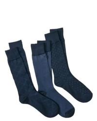 Merona 3pack Socks Navy Os
