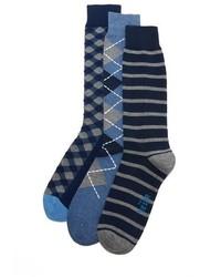 The Tie Bar Navy Basic 3 Pack Socks