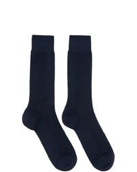 Ermenegildo Zegna Navy Cable Knit Socks