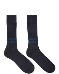 Ermenegildo Zegna Navy Everything Socks
