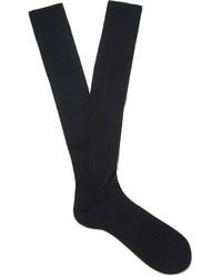 Ermenegildo Zegna Ribbed Cotton Over The Calf Socks