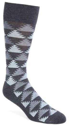 Nordstrom Shop Pyramid Motif Socks