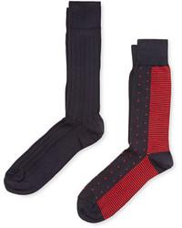 Solid And Printed Socks