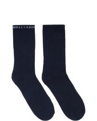1017 Alyx 9Sm Three Pack Multicolor Logo Socks