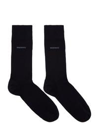 BOSS Two Pack Navy Polka Dot Socks