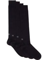 Ermenegildo Zegna Two Pack Navy Techmerino Knee Socks