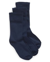 Nordstrom Ultra Sleek 3 Pack Crew Socks