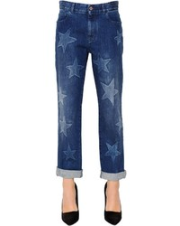 Stella McCartney Boyfriend Bleached Stars Denim Jeans