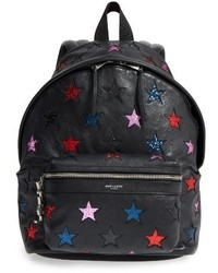 Saint Laurent Mini City California Star Leather Backpack None