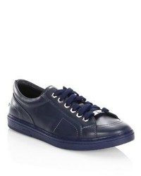 Jimmy Choo Star Studs Leather Low Top Sneakers