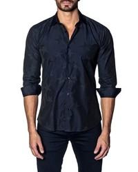 Jared Lang Slim Fit Star Print Sport Shirt