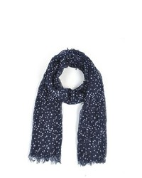 Thedappertie navy 100 viscose star scarf ls4570 medium 395757