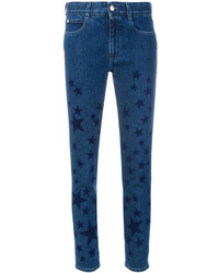 Navy Star Print Skinny Jeans