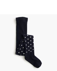J.Crew Girls Metallic Star Tights
